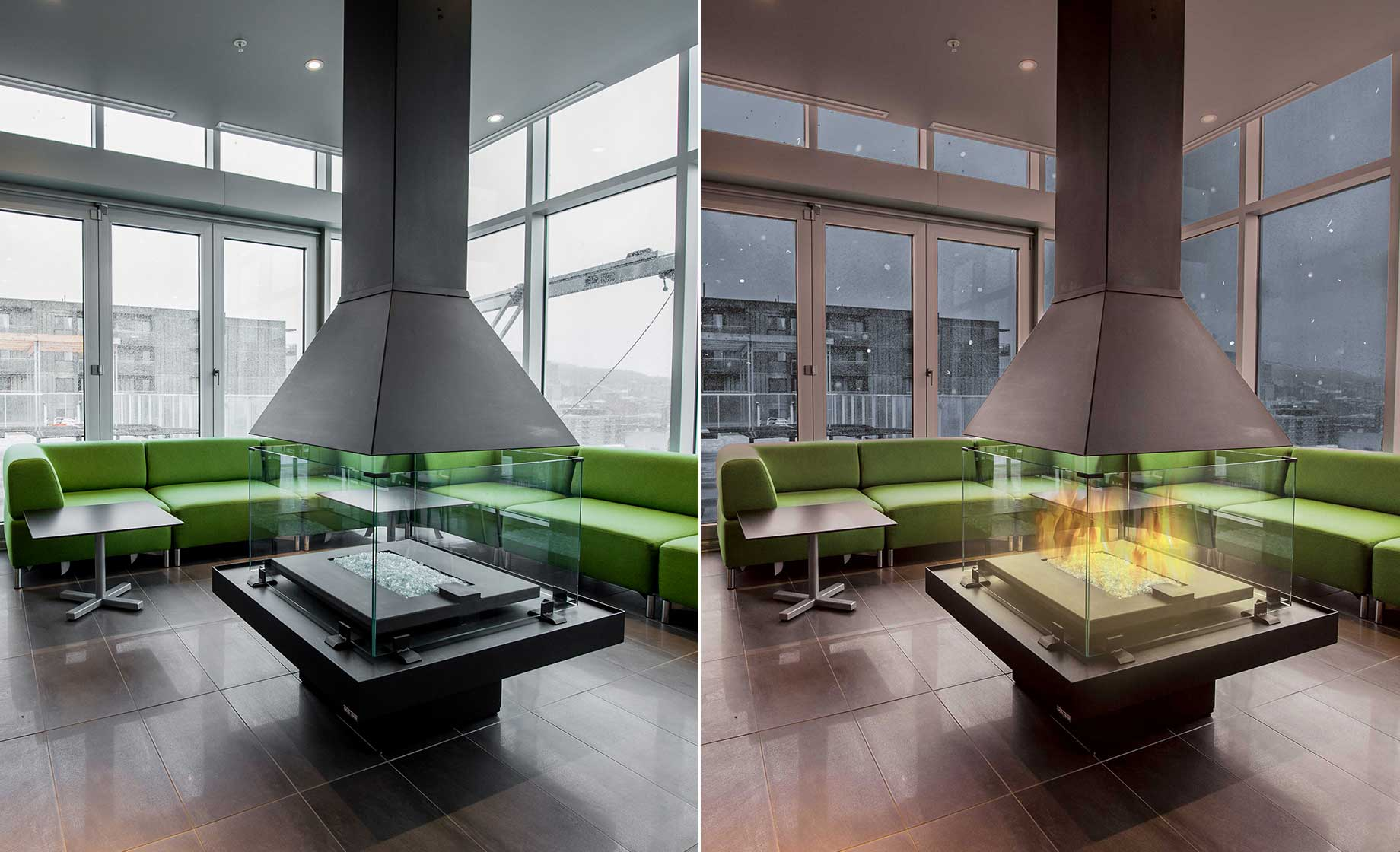 Before and After Photo Editing for Metropol Condos Building Wrap by Webmovement