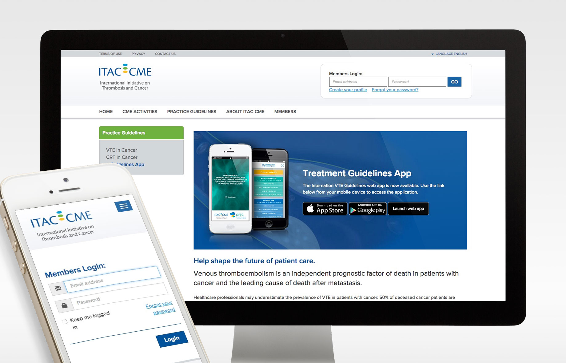 ITAC-CME Responsive Website by Webmovement